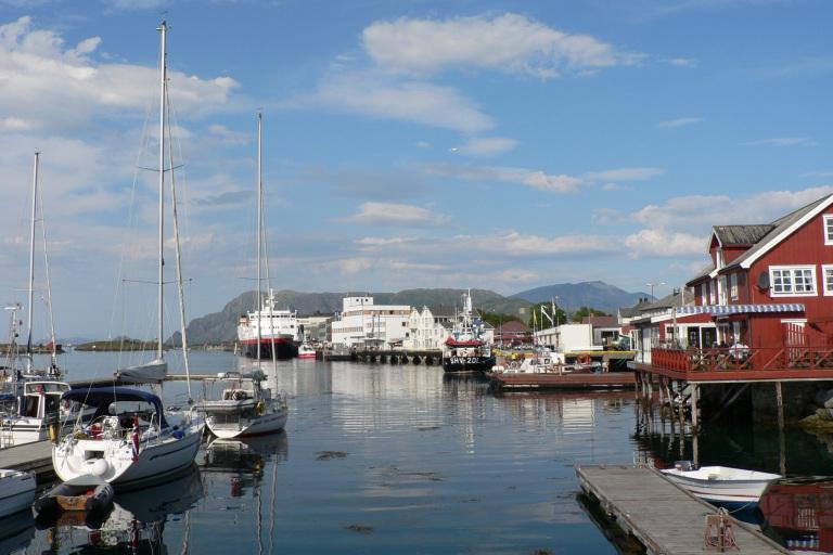 Kystbyen midt i Norge